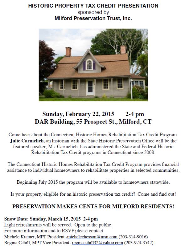 Historic Tax Credits Presentation Flyer